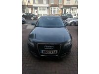 Grey Audi A3 2012 reg; 5 Door, Auto, 2 litre TDI. Low mileage and FSH.