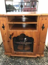 Pine tv unit with storage