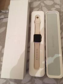 2 Apple watches Gold 38mm & Silver 42mm