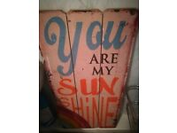 FREE you are my sunshine wall art