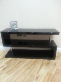 Black glossy TV Unit / table / trolley
