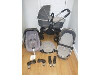 Icandy Peach 3 Travel System, I Candy Pushchair, Carrycot & Maxi Cosi Car Seat! Grey/Truffle!
