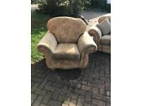 Sofa and two armchairs (Alstons). FREE