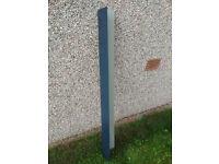 Metal roofing cladding, roof edging corner, slate blue polymer coated, 1.4 metres.