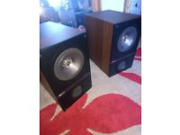 KEF Q100 Bookshelf Speaker One Tweeter Blown Needs Fixing