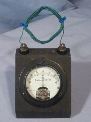 Weston No. 375 Dc Galvanometer Benchtop Slant Front With Stand