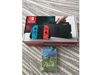 Nintendo switch sealed with sealed Zelda game