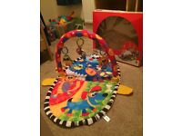 Baby 'Over the Moon' play gym . Excellent condition but box a little squashed £5
