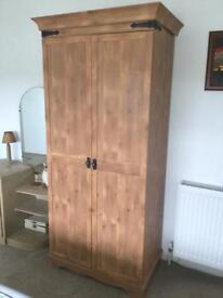 Wardrobe double door light wood