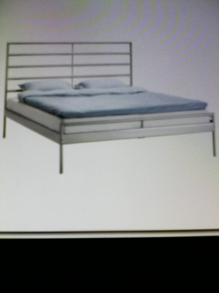 a king size ikea aluminum bed frame