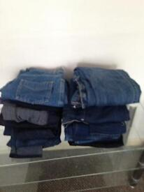 17 pairs ladies jeans size 8 and 10