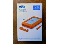 LaCie Rugged 2 TB Thunderbolt + USB 3.0, Portable, 2.5 inch External Hard Drive for PC and Mac