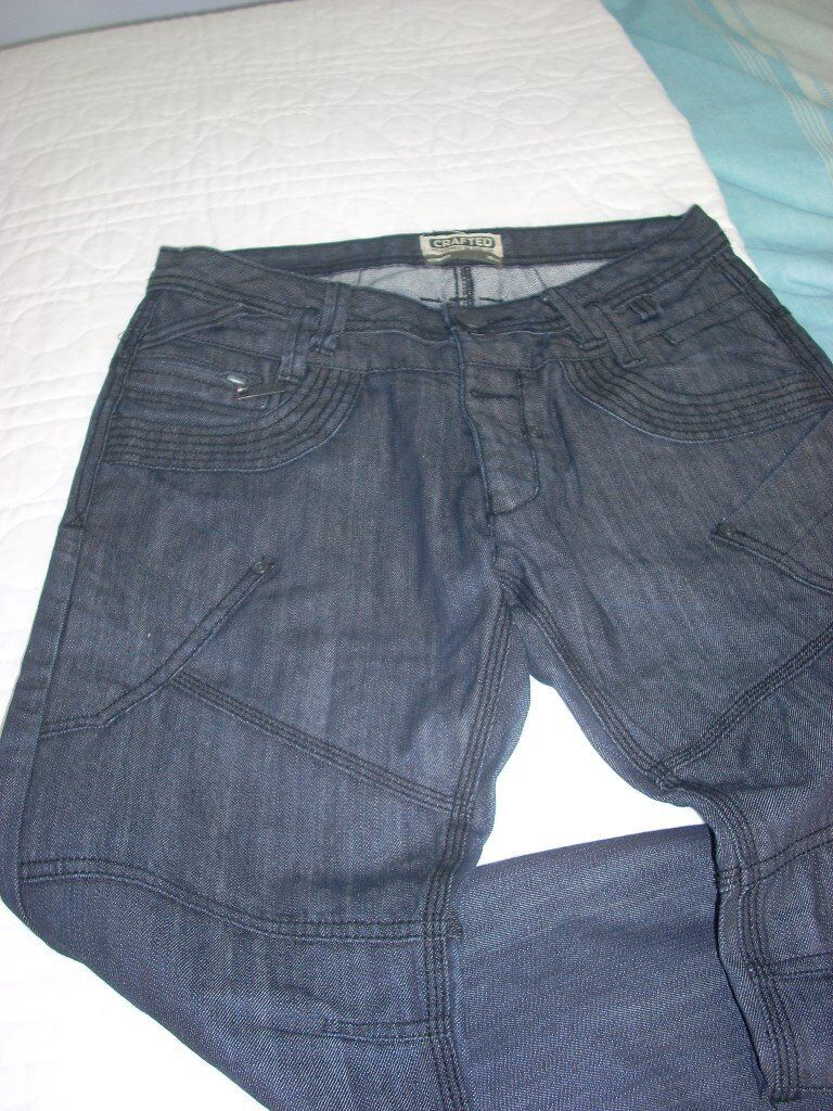 """Mens Jeansin Peterlee, County DurhamGumtree - two pairs of mens blue jeans by Crafted.32"""" (81cms) waist and 30"""" (76cms) leg approx. Hardly worn. A snip at £15 for the pair"""