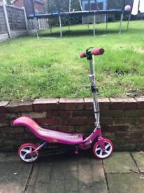 Pink space scooter like new