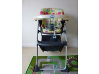 Chicco High Chair - multi position tray & back - storage net under