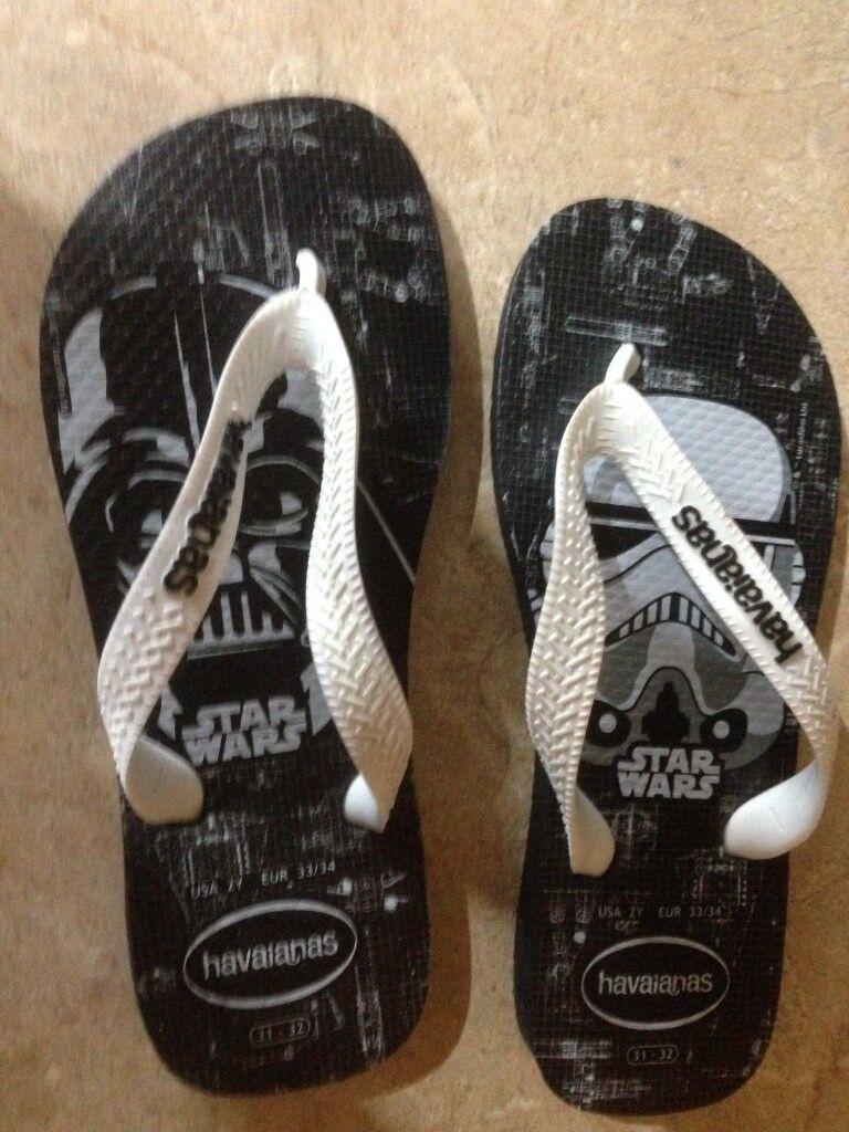 3fa7f9f82f52 Havaianas Printed Flip Flops Kids Star Wars (size 13)