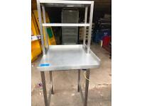 Stainless Steel Corner Table with Shelves