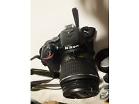 Pefect condition Nikon D5500 with VR II 18-55mm Lens. Warranty remaining.