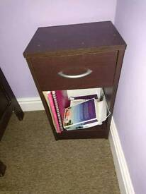 Matching bedside table and drawers