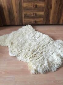 Real sheep rug