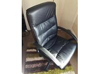 Comfy Black Leather Office Chair