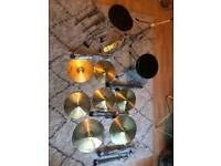 Drum cymbals and parts