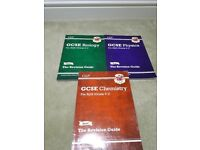 GCSE GCP grade 1 to 9 science revision guides for chemistry physics & biology