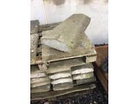 Reclaimed concrete wall copings and pillar tops