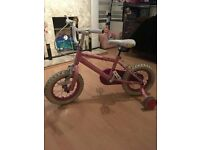 Pink Princess Girls Bike (Age 2-4 years)