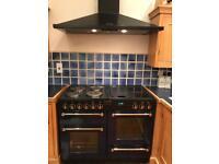 Rangemaster 110 cooker and chimney hood