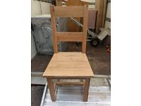 2x solid oak dining chair