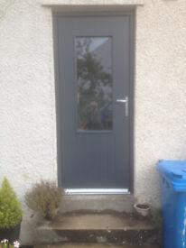 Exterior door in RAL 7016 Anthracite Grey