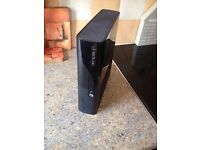 BLACK XBOX 360 CONSOLE AND LEADS...FOR PARTS OR COULD BE EASILY FIXED..£20