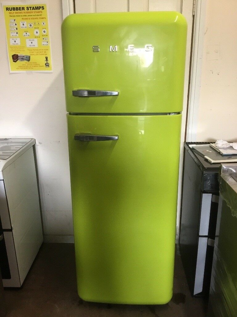 Smeg fridge freezer FAB30QVE lime green 3 months warranty free local  delivery!!!!!!! | in Eastham, London | Gumtree