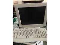 Computer keyboard and monitor