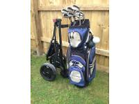 Cleveland golf clubs bag and trolley