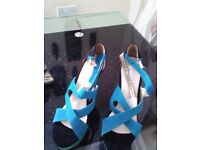 Ladies heeled shoes never been worn brought for £15 will accept £10 very good condition new size 5