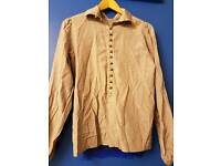 In-wear stone silk - cotton mix long sleeved shirt. Size 10