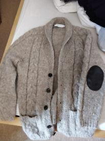 Grey Icelandic Wool Cardigan