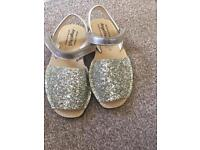 New Girls Sparkly Sandals UK 11.5