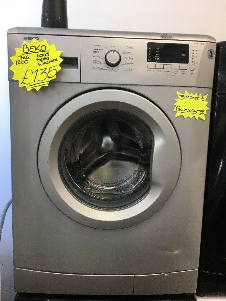 BEKO 7KG DIGITAL SCREEN WASHING MACHINE IN LIGHT SILIVER