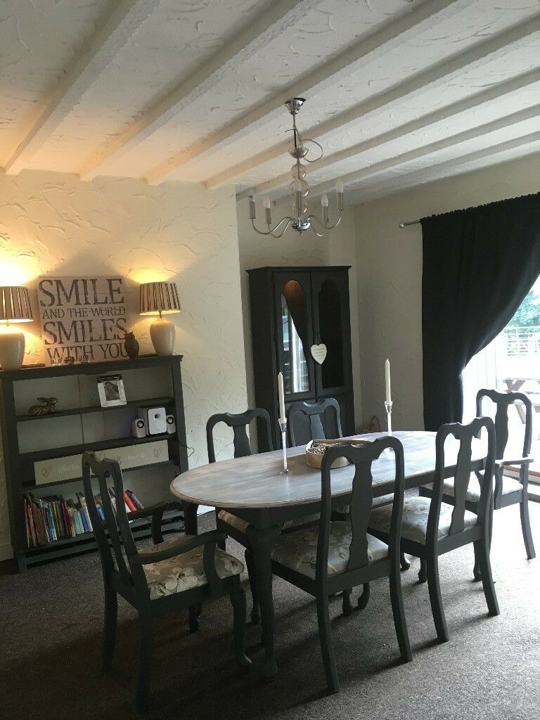 Dining Table With 6 Chairs Matching Bookshelf Dresser