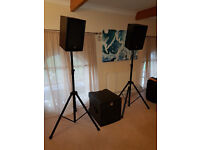 HK Audio LUCAS MAX powered active PA speaker system 2000W RMS with subwoofer suit band or disco