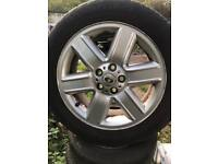 """Set of four Range Rover / discovery 4 19"""" alloys and good tyres"""