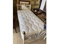 Julian Bowen single bed White metal frame COLLECTION ONLY FROM ADRESS BELOW.