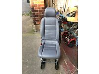 Leather seat for day van or camper conversion Vito - Vivaro with seat belt