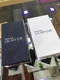 Samsung S3 white, black work any sim brand new sealed
