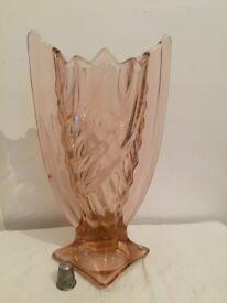 Dark pink French Art Deco vase
