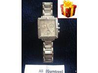 Invicta Women's Square Angel Diamond Stainless Steel Chronograph Swiss Watch no. 5377
