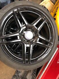 Mercedes AMG alloys wheels in gloss black